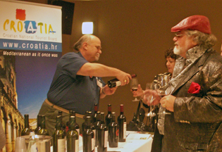 Croatian wine tasting at the 2012 IWINETC