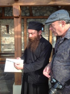 Terry with Father Gerasim at Alaverdi, Kakheti, Georgia