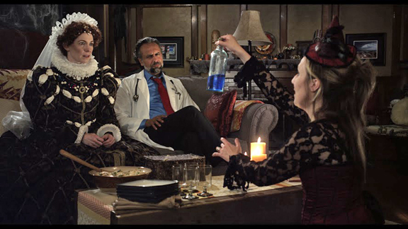Carrie Preston as Claire, Bernard White as Ridley and Heather Raffo as Lauren in Vino Veritas Courtesy of Jo Films.jpg