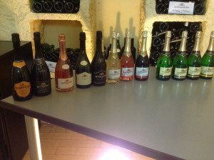 An array of sparkling wines