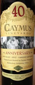 2012 Caymus 40th Anniversary Napa Valley Cabernet Sauvignon