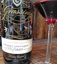 Grassini Tasting Room is in Santa Barbara. The focus is on Bordeaux grape varieties.