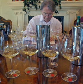 Steven Spurrier led our tasting of 48 Santa Barbara County wines.