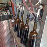 Bottling Cabernet Sauvignon at Tin Lizzie Wineworks