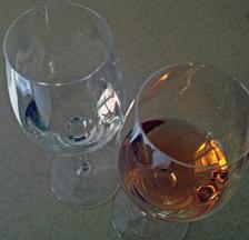 Albastrele Blanc de Cabernet (light colored) and my Virginia White Cabernet Sauvignon
