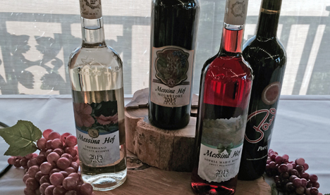 Dinner wines to celebrate the completion of harvest in Bryan.