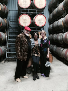 Paul and Merrill with Melba Allen from The Wine Profilers