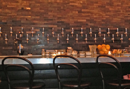 Coopers Hall Winery taps