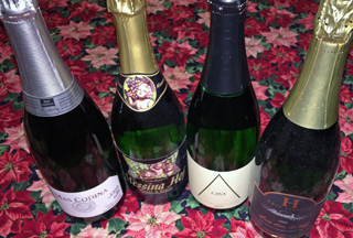 Sparkling wines are both festive and pair well with holiday foods.