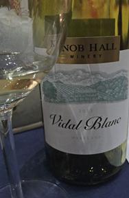 Vintage Vidal tasting. Knob Hall crafts a dry Vidal.