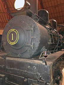 B&O Railroad Museum's roundhouse houses many locomotives.