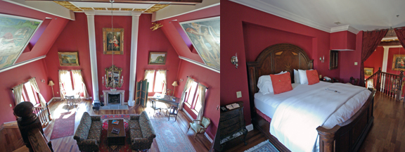 One of the rooms at Wedmore Place, fit for royalty
