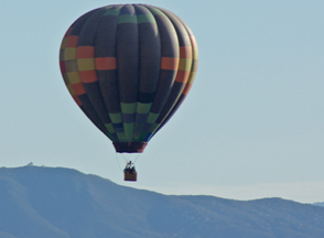 Another balloon spotted over vineyards in Temecula, California.