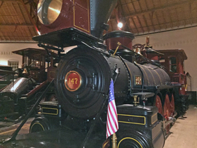 One of many engines in the Roundhouse at the B&O Railroad Museum