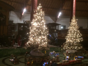 Christmas train set in the B&O Museum