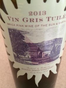 Vin Gris Tuile at Bonny Doon Vineyard