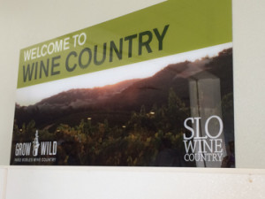 Wine Country sign at San Luis Obispo Airport