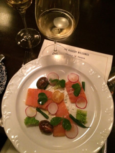 A delicious 1st course at the Riggsby Restaurant in Washington, DC