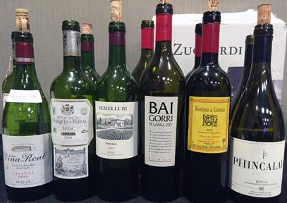 Tasting Basque wines from the Rioja Alavesa region of Spain