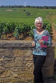 Theresa Beaver, the Viticulture Enology Certificate Coordinator at Romanee Conti in Burgundy, France