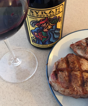 Bonny Doon Vineyards Syrah, perfect for barbecue