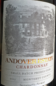 2013 Andover Estate Chardonnay served on Delta Airlines