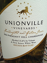 Unionville Vineyards in New Jersey