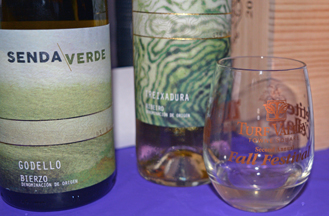 Two Spanish wines made with Godello grapes and the other made with Treixadura grapes