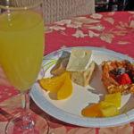 Vindemia breakfast after a hot air ballon trip!