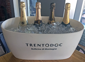 Four of the eleven sparkling wines from Trentodoc
