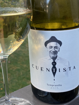 2015 El Cuentista, a white wine made with 100% Tempranillo