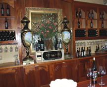 tasting room at Del Dotto Vineyards