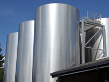 wine tanks at Simi