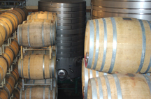barrel room at Sullivan Vineyards