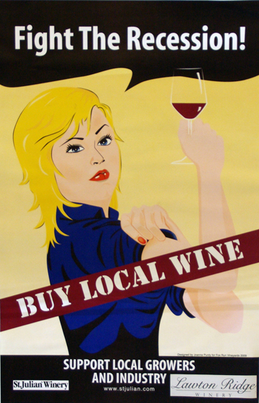 Drink Local Wine Poster