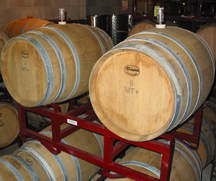 barrel room at Solomons Island Winery