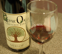wine at Lone Oak Vineyard Estate