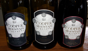 Cooper Mountain wine